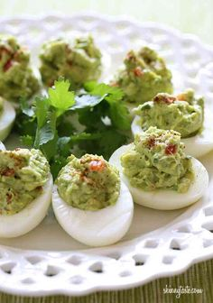 Guiltless deviled eggs loaded with healthy fats!