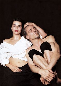Juliette Binoche & Jeremy Irons by Michel Comte, 1993