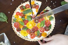 how to make a showstopping heirloom tomato tart