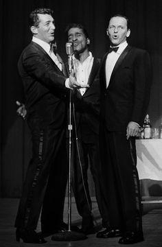 Frank Sinatra, Sammy Davis Jr and Dean Martin