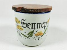 Vintage Senftöpfchen / mustard pot, vintage, 60s, retro design by Ganz-und-Garn…