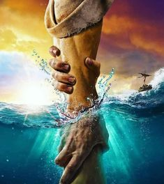 The directional love of God keeps us from sinking. Keep our hearts set on the Voice of His Son Jesus Christ. God Bless YOU! Christus Tattoo, Jesus Artwork, Jesus Drawings, Jesus Photo, Pictures Of Jesus Christ, Pictures Of God, Cross Pictures, Jesus Painting, Paintings Of Christ