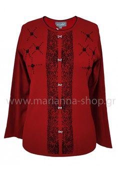 Μπλούζα μπορντό με πέρλες Jumpers, Knitwear, Sweaters, Shopping, Fashion, Bead, Moda, Tricot, Fashion Styles