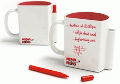 memo mug because during coffee breaks is when we think the most ;)