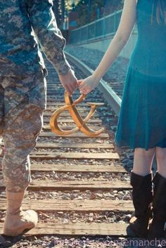 military engagement pic.  Would be a cute family picture too!