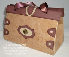 """Purse"" made with the new Natural Composition Specialty Designer Series Paper from Stampin' Up!"
