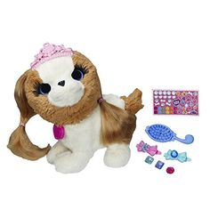 Win best in show when you groom your Princess Pup pet to perfection! This soft puppy figure's hair is soft and ready for styling and she comes with a brush and 2 barrettes so you can make her look sp...