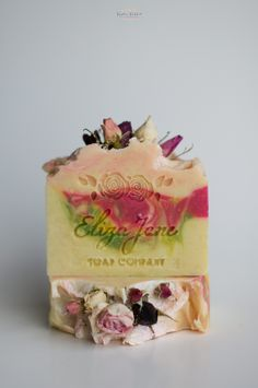 Beautiful floral handcrafted soap design called 'Alida Rose Soap Bar' by Eliza Jane Soap Company - Fall 2014