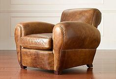 Here are some of the coolest brown leather chairs around. Check out The Milk Crate for brown leather inspiration! Small Leather Chairs, Brown Leather Armchair, Leather Club Chairs, Leather Sofa, Leather Furniture, Home Furniture, Furniture Design, Metal Dining Chairs, Eames Chairs