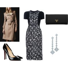 Royal Tour outfit by missmollyrose10 on Polyvore featuring Burberry, Christian Louboutin, Prada and Tiffany & Co.