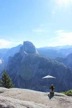 hanggliding over Half Dome, Yosemite 2015 ----- Palms to Pines