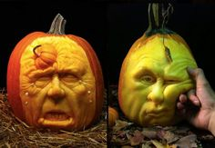 Check out these elaborate pumpkin carvings from six carvers—they're inspiring, scary, funny, and beautiful!