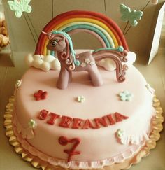 Tort cu ponei Birthday Cake, Desserts, Food, Tailgate Desserts, Deserts, Birthday Cakes, Essen, Postres, Meals
