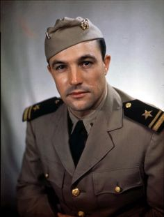 Portrait of Lieutenant (JG) Gene Kelly (1912 - 1996) of the United States Naval Air Service, August 1945. The photo was probably taken in Washington, DC. (Photo by PhotoQuest/Getty Images)