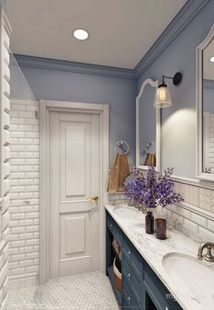 40 Trendy bathroom vintage design home decor Bathroom Interior Design, Interior, Vintage Bathrooms, Trendy Bathroom, Home Decor, Diy Bathroom Remodel, Luxury Bathroom, Bathrooms Remodel, Bathroom Decor