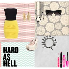 work it hard by sarybets on Polyvore featuring polyvore fashion style Plein Sud Bardot Eddie Borgo Candie's Linda Farrow Luxe Rimmel NARS Cosmetics Stila