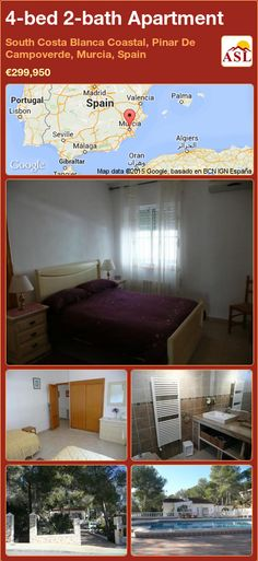 Apartment for Sale in South Costa Blanca Coastal, Pinar De Campoverde, Murcia, Spain with 4 bedrooms, 2 bathrooms - A Spanish Life Valencia, Murcia Spain, Heating And Air Conditioning, Central Heating, Entrance Hall, Double Bedroom, Apartments For Sale, Dining Area, Swimming Pools