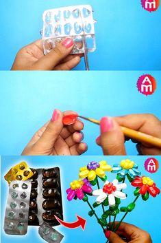 Ideas flowers art projects for kids schools craft ideas Recycled Art Projects, Projects For Kids, Crafts For Kids, Diy Projects, Recycled Materials, New Crafts, Diy Arts And Crafts, Creative Crafts, Best From Waste Ideas
