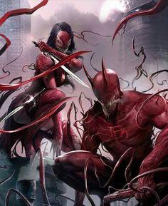 Daredevil & Elektra Symbiotes