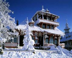 Located in the Moravian-Silesian Beskids Mountains, Czech Republic, these traditional wooden buildings were used by local hermits. In winter, it& a popular tourist spot. Places To See, Places To Travel, Japanese Mountains, Wooden Buildings, Prague Czech Republic, Old Town Square, Prague Castle, Mountain Village, Winter Photos