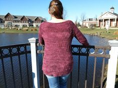This wide necked pullover features a softly textured pattern on the body with smooth Stockinette sleeves. This is the perfect sweater wear while curled up with a good book or hanging out with friends. Fashionable while still being comfy. Knit Sweaters, Sweater Knitting Patterns, Knit Patterns, Cardigans, Stockinette, Jumpers, Knit Crochet, Knitwear, Smooth