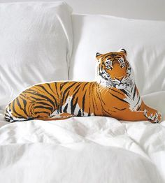 Tiger Pillow by Broderpress on Scoutmob Shoppe