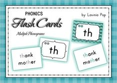 Phonics Flashcards - Multiple Phonograms Identification {FREE} This unit contains 45 Multiple Phonograms flashcards. The front of each flashcard displays the phonogram, the number of sounds it says (the number of circles displayed) and the identification for it. The reverse of each card displays examples of words that denote each sound for each phonogram. 53 pages