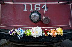 Mismatched rainbow bridal bouquets