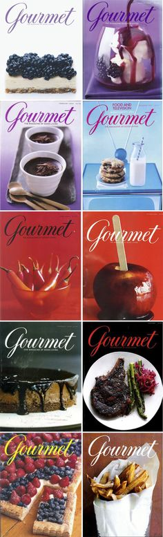 I miss the amazing design, colours and photography of gourmet magazine covers.