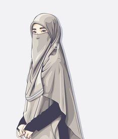 #vector #hijab #niqab @ahmadfu22 Arab Girls, Muslim Girls, Muslim Women, Hijab Niqab, Muslim Hijab, Niqab Fashion, Muslim Fashion, Hijabi Girl, Girl Hijab