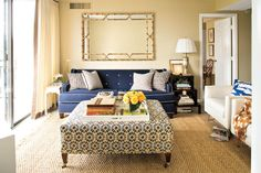"Mix, Don't Match - 108 Living Room Decorating Ideas - Southernliving. This homeowner bucked the ""matchy, matchy"" rule by…"