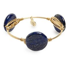 Bourbon and Boweties Marbled Stone Bracelet ($34) ❤ liked on Polyvore featuring jewelry, bracelets, blue, bangle bracelet, marble jewelry, blue bangle bracelet, hinged bracelet and polish jewelry