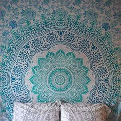 Pale Green Ombre Large Tapestry