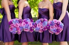 bridesmaids purple