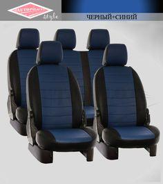 Черные с синим чехлы Автопилот на сиденья от интернет магазина Autopilot style. http://autopilot-style.ru/ для Сузуки, Сангйонг.