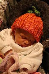 Free Crochet Baby Pumpkin Hat Pattern.
