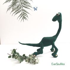 Handmade Felt Dinosaur - Felt Plushie - Felt Toy - Felt Dinosaur - Dinosaur Toy - Gift - Ornament - Toy Gift - Freestanding Dinosaur - Good by EverSewNice on Etsy Handmade Felt, Handmade Items, Plushies, Dinosaur Stuffed Animal, Etsy Seller, My Etsy Shop, Artisan, Sewing, Creative