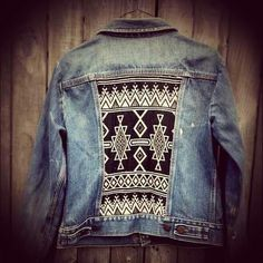 Patched denim jackets.