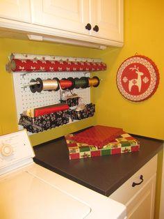 Christmas gift wrap station