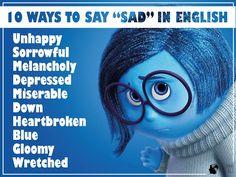 10 ways to say sad in English