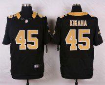 New Orleans Saints #45 Hau'oli Kikaha Black Team Color NFL