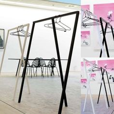 LOOP STAND by HAY, for all clothes - ideal for showroom, galleries, shops - deco and design - Loop Color: Black