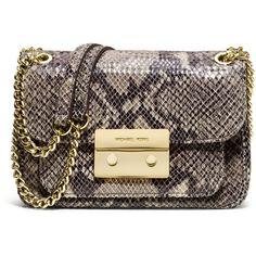 05b066e6c344 MICHAEL Michael Kors Small Sloan Snake-Embossed Shoulder Bag ( 248) ❤ liked  on
