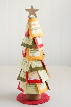 Christmas tea trees! Perfect gift for someone in the office as a secret santa! More