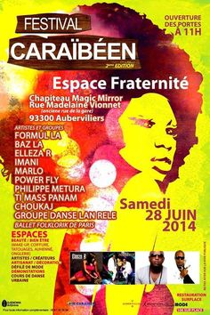 Festival Caribéen. Le samedi 28 juin 2014 à aubervilliers.  11H00