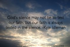 God's Silence Photo taken & edited by Amy Coleman