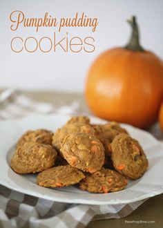 Pumpkin pudding cookies on iheartnaptim.com ...these are super soft and delicious! #pumpkin #desserts