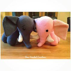Lovey Elephants 🐘❤️ #amigurumi #crochet #creations #handmade #madewithlove #animals #yarn #wool #hook #elephant #crochetelephant #amigurumielephant #soft #teddy #softtoy #gift #love #happy #pink #trunk #tusks #dorsetteam