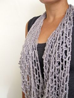 Net Scarf/Cowl by One Flew Over; Free crochet pattern download by Ravelry