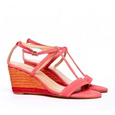 """Sole Society """"Hazel"""" coral low wedge shoe. Love these! Check them out at http://www.solesociety.com/invite/cid/7012471/"""